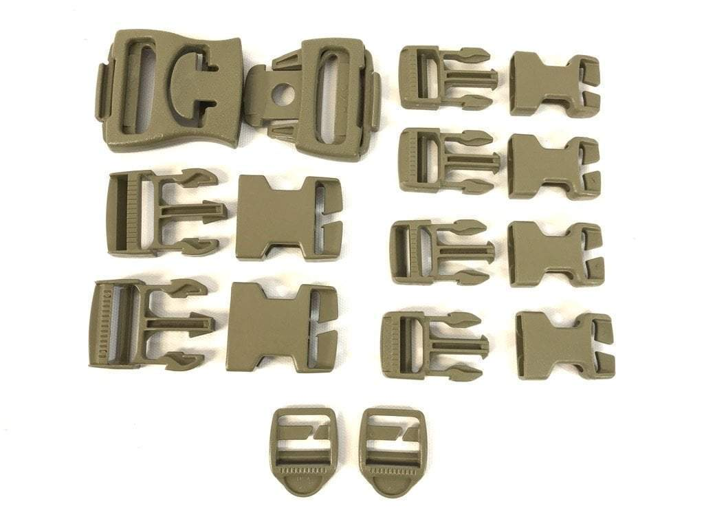 16 Piece Army Molle Replacement Buckle Set
