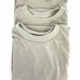 3 Pack Sand Tan T-Shirts, Polyester Crew Neck, Size Medium