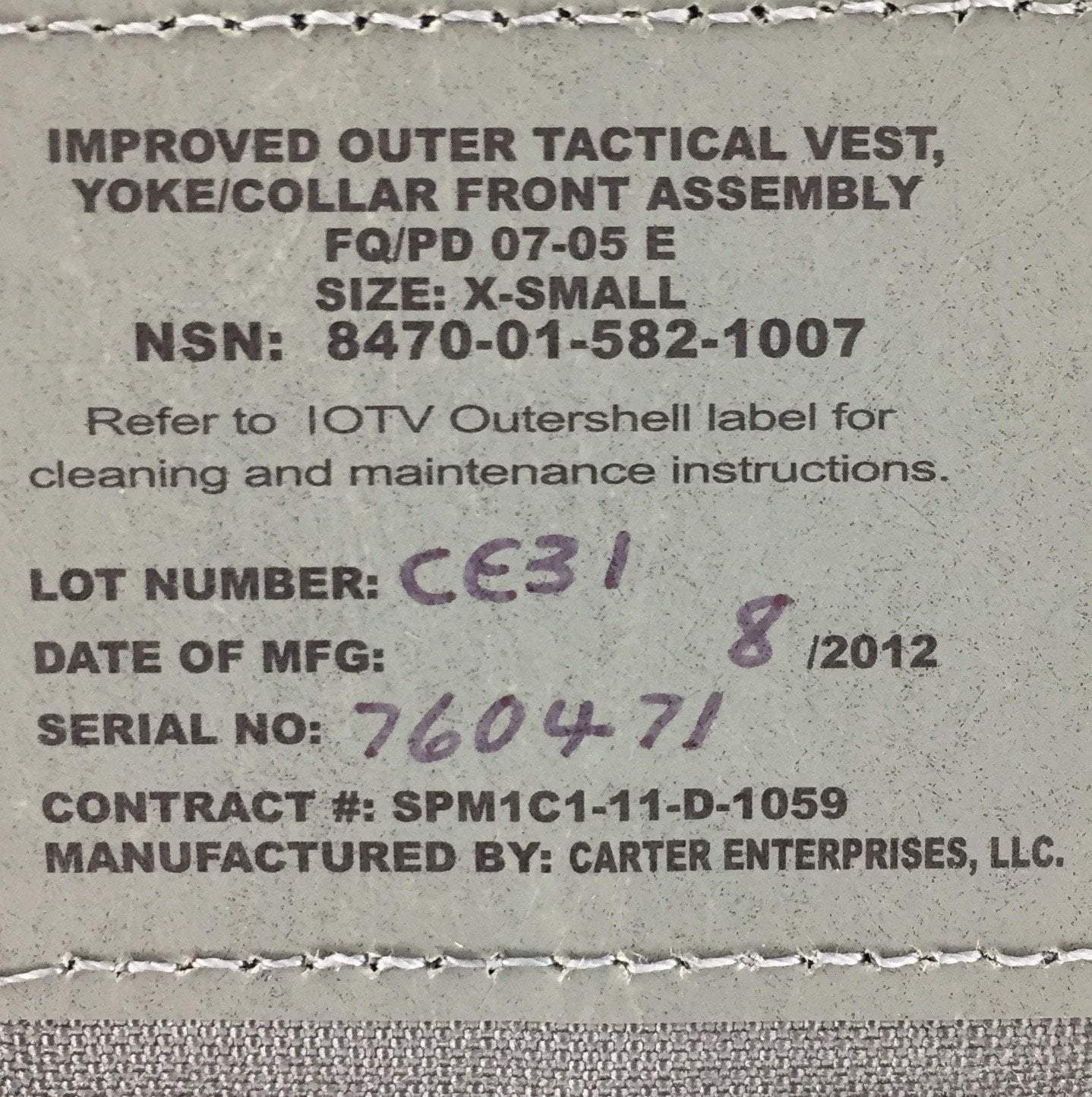 ACU Yoke and Collar Front Assembly for IOTV