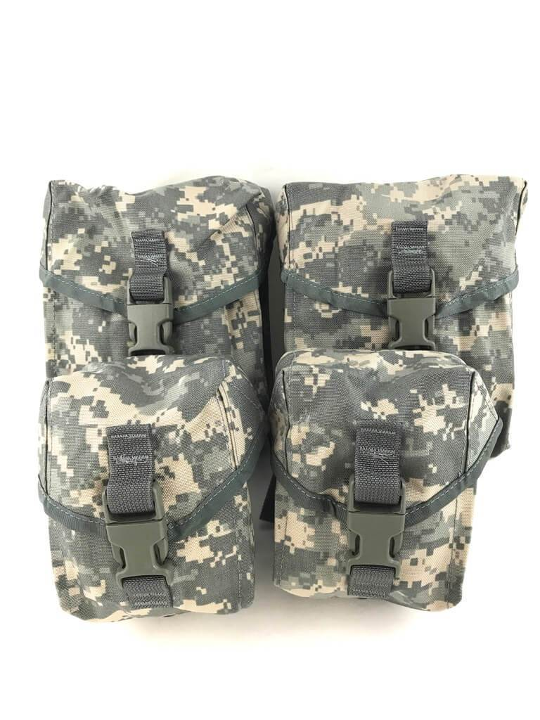Army ACU SAW Gunner Pouch Set, 100 & 200 Round Molle Pouches