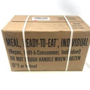 Army Case of 12 Meals Ready to Eat, Army Surplus MREs