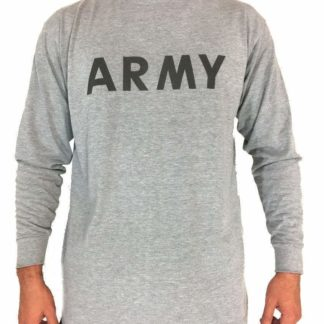 Army Physical Fitness Long Sleeve Shirt Uniform, Military Issue PT IPFU