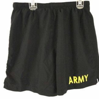 Army Physical Fitness Uniform Shorts, Black & Yellow