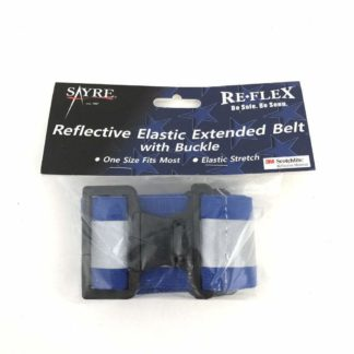 Blue Reflective Elastic PT Belt with Buckle
