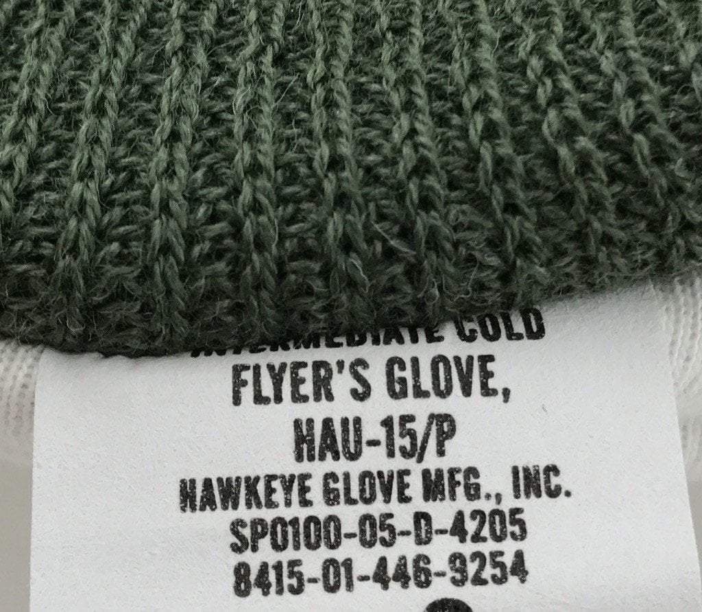 Intermediate Cold Weather Flyer's Gloves, HAU-15/P Sage Green