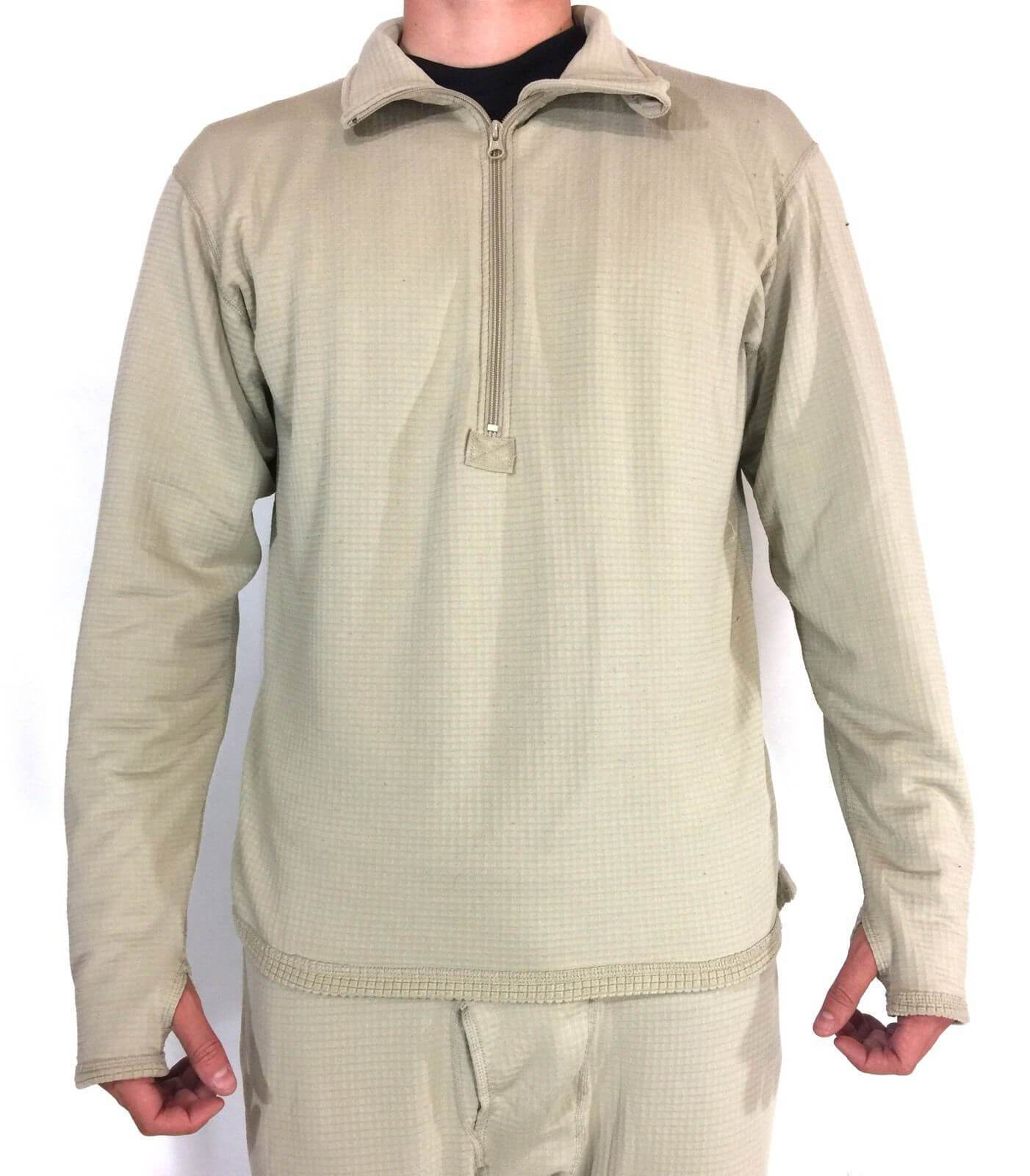 Army Waffle Top Military Thermal Undershirt, ECWCS LEVEL 2 Mid Weight Shirt