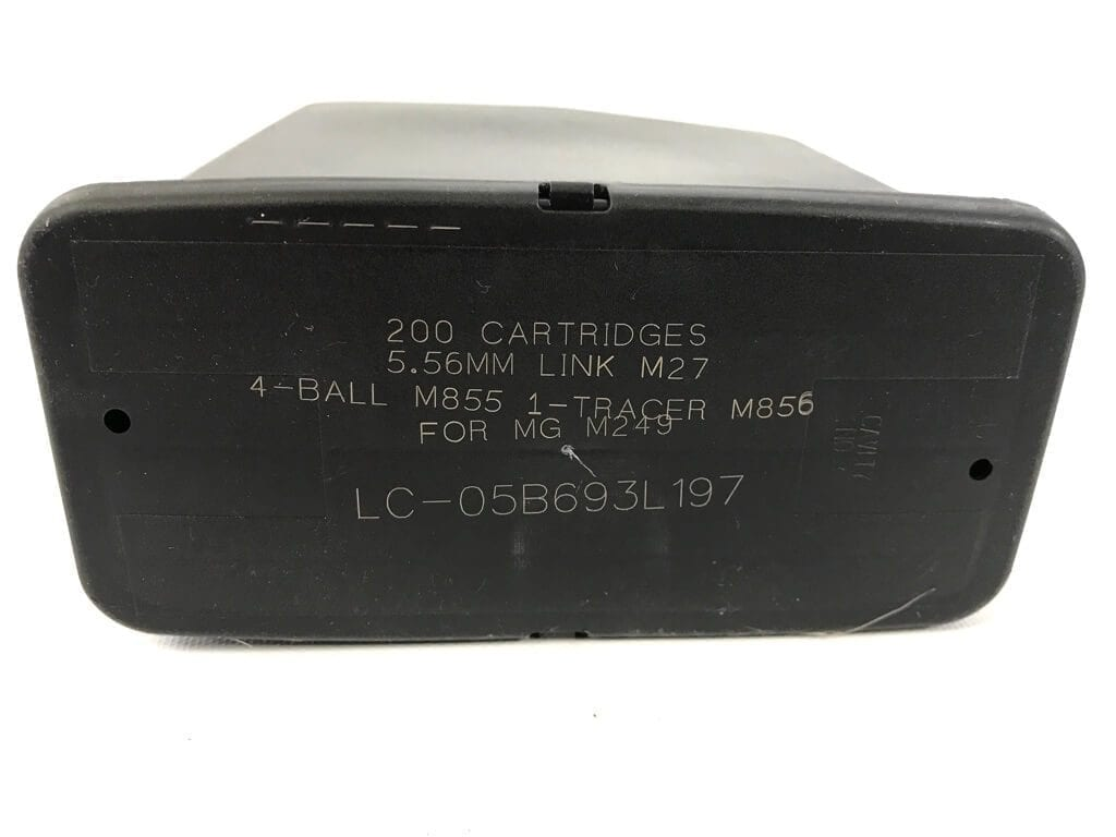 Pre-owned Army M249 200 Round SAW Ammo Box
