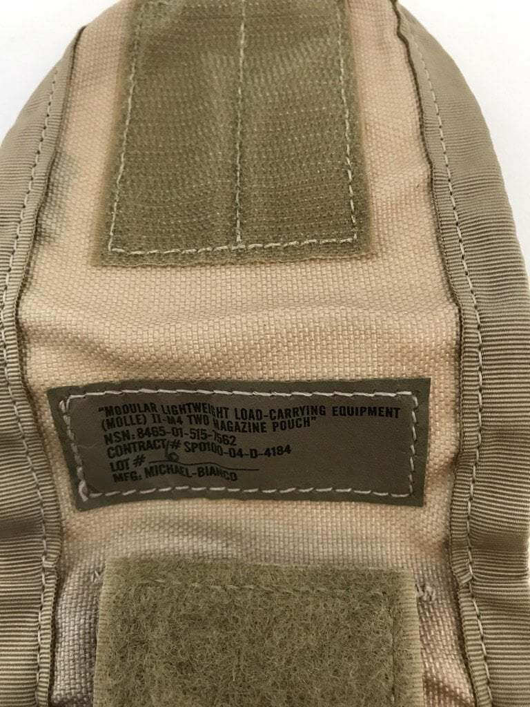 Pre-owned Lot of 2 Desert Camo M-4 Double Mag Pouch, DCU