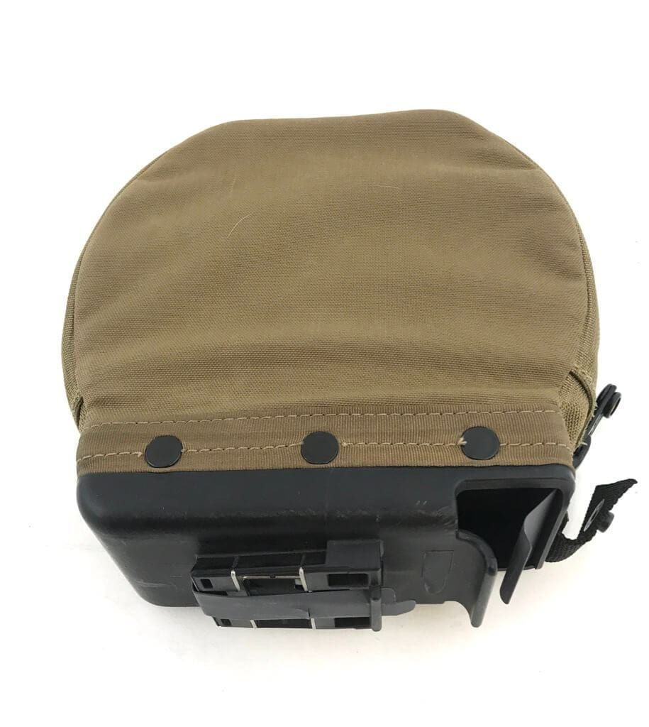 Pre-owned M249 200 Round Saw Gunner Soft Magazine Nutsack, Coyote Brown