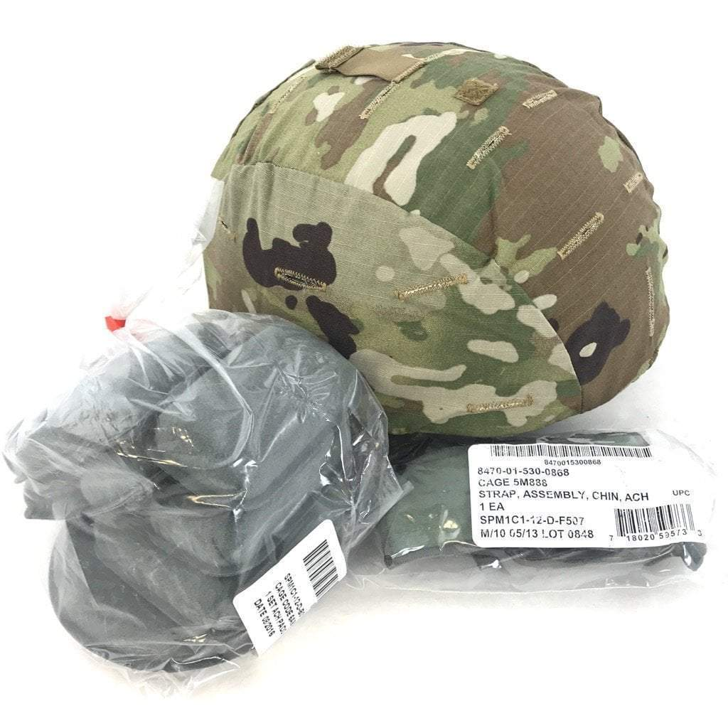 Pre-owned Modular Integrated Communications Helmet (MICH), Army Kevlar