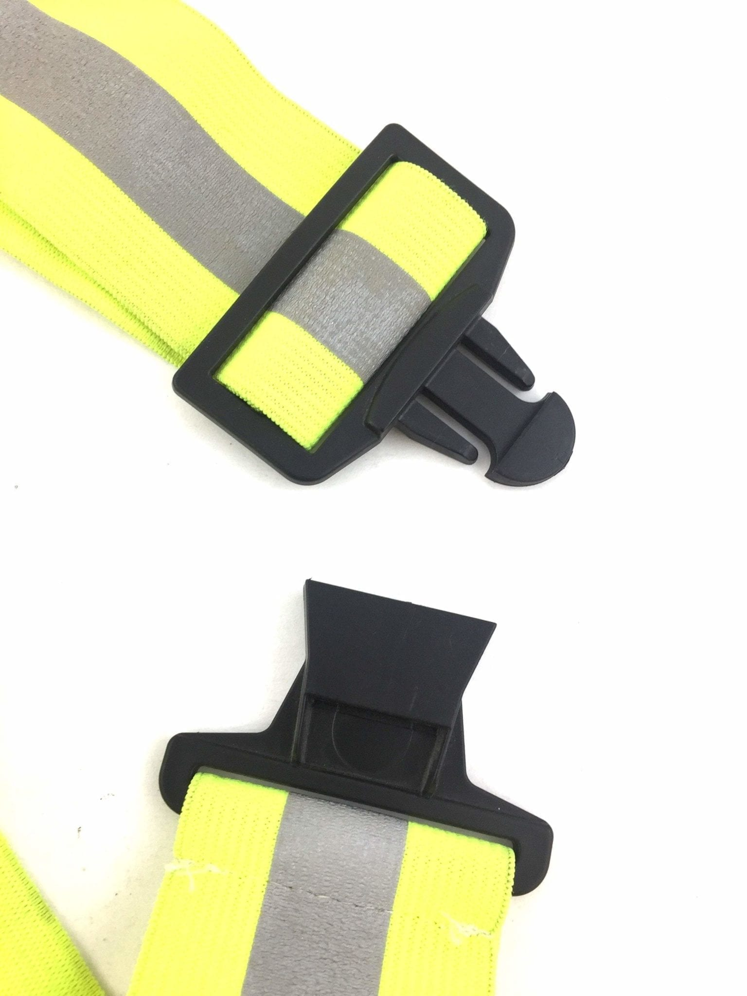 Yellow Reflective Elastic PT Belt with Buckle