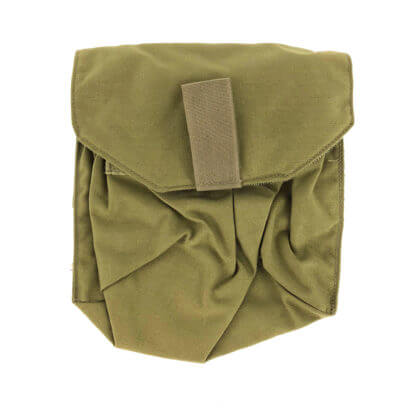 Used Eagle Industries Gas Mask pouch Khaki Front
