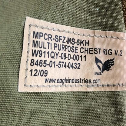 Khaki Used Eagle Industries Multipurpose Chest Rig Label