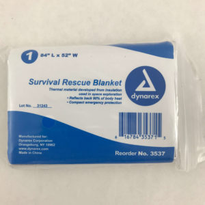 Survival Rescue Thermal Blanket Single In package